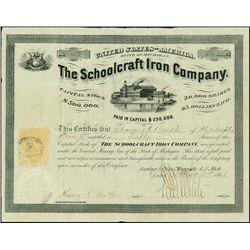 MI. Schoolcraft Iron Company w/ U.S. 25c IR