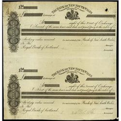 Australia. Bank of NSW Bill of Exchange Proofs.