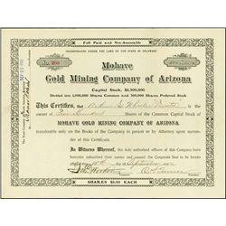 Mohave Gold Mining Company of Arizona