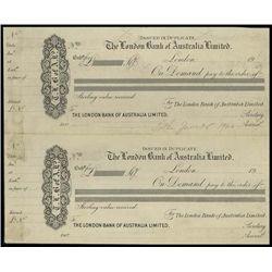 Australia. London Bank of Australia Prf Demand No