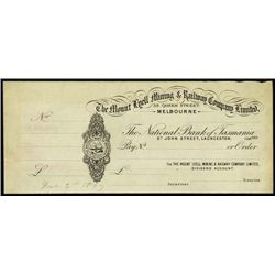 Australia. Mt. Lyell Mining & Railway Co. Proof D