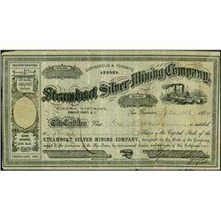 Nevada Territory. Steamboat Silver Mining Company