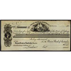 Australia. Union Bank of Australasia Bill of Exch