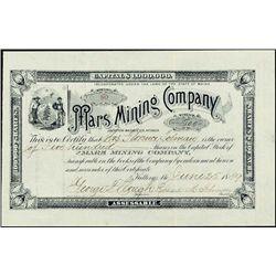 Nevada. Mars Mining Company.
