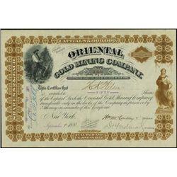 Nevada. Oriental Gold Mining Company.
