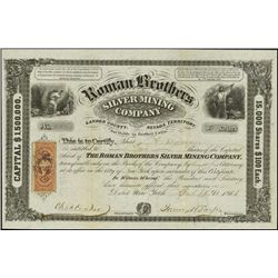 Nevada. Roman Brothers Silver Mining Company.