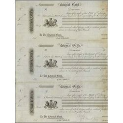 British Guiana. Colonial Bank Proof Exchanges.