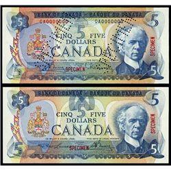 Canada Bank of Canada Specimen Banknotes (2).