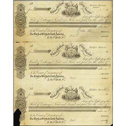 Canada. Bank of British North Am. Proof Bills of