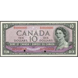"""Canada. Bank of Can. 1954 """"Devil's Face Hairdo"""" I"""