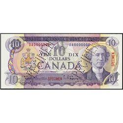 Canada. Bank of Canada Specimen Banknote.