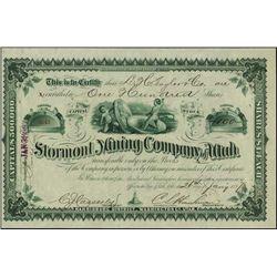 Utah.  Stormont Mining Company of Utah