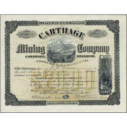 Western. Carthage Mining Company.
