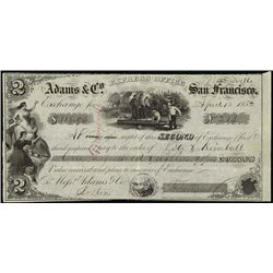 California. Adams & Co. Bill of Exchanges.