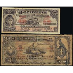 Guatemala Banknotes From ABNC Reference Collectio