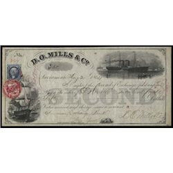 CA.  D.O.Mills & Co.Bill of Exchange w/ CA Rev. S