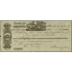California. Nevada, California Bill of Exchange.