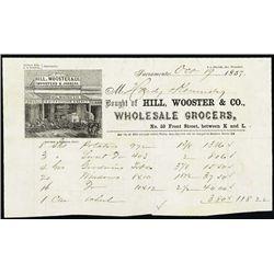 CA. Sacramento Gen. Store Gold Rush Era Letter He