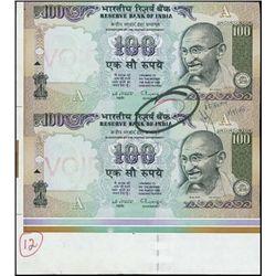 India. Reserve Bank of India Uncut Pair.