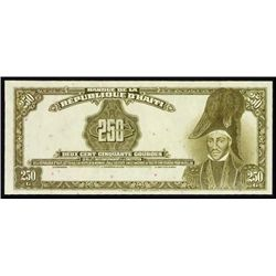 Haiti. Banque De La Republique D'Haiti Proofs