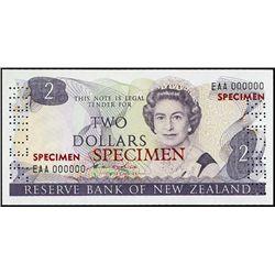 Reserve Bank of New Zealand Specimen Banknote.