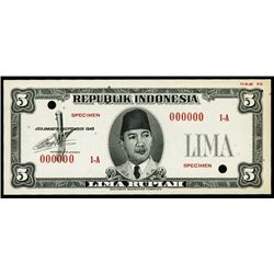 Indonesia. Republik Indonesia Essay Banknote.
