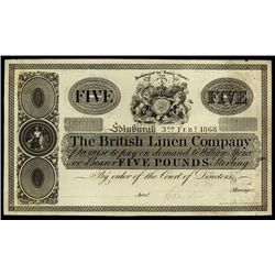 Scotland. The British Linen Bank Proof banknote.