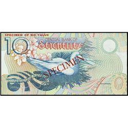 Seychelles. Cen. Bank of Seychelles Banknote Spec