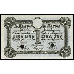 Italy. Banco Di Napoli Specimen Banknote.