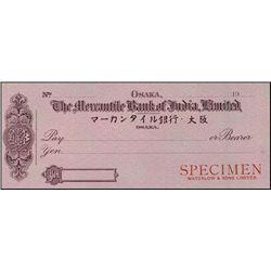 Japan. Osaka. The Mercantile Bank of India, Limit
