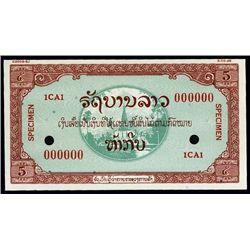Laos. Lao Specimen Essay Banknote.