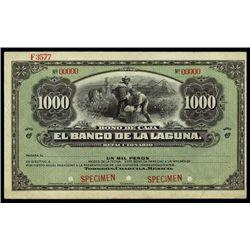Mexico. Bono De Caja. El B. De La Laguna Specimen