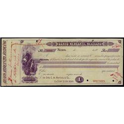 Mexico. Banco Mercantil Mexicano Spec. Bill of Ex