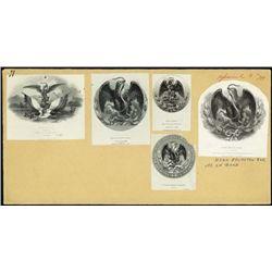 Mexico. Banknote Vigs. & Calendar Stone & Arms.