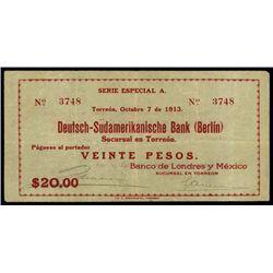 Mexico. B. De Lond.Y Mex, Deutsch-Sud. Bank (Berl