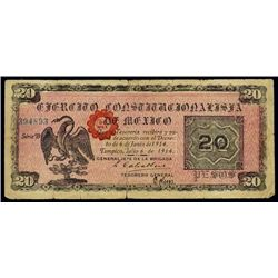 Mexico. Banknote From ABNC Reference Collection.
