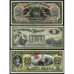 Mexico. Interesting Banknote Assortment.