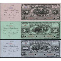 Mexico. Sr.Dn.Benito Aznars. Scrip Note Specimens