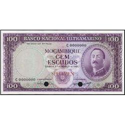 Mozambique. Banco Nac. Ultramarino Mozamb. TC.
