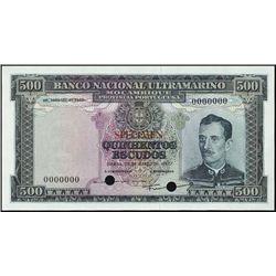 Mozambique. Banco Nac. Ultramarino Mozamb.TC.