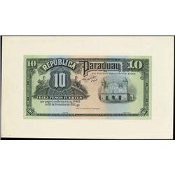 Paraguay. Republica Del Paraguay Proof Banknotes