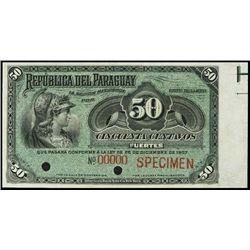 Paraguay. Republica Del Paraguay Banknotes