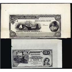 Paraguay. El Banco Del Paraguay Proof Banknotes.