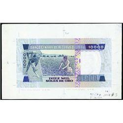 Peru. Banco Central De Reserva Del Peru Proofs.