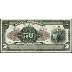 Banco Cent. De Reserva Del Peru Iss. Banknotes (1