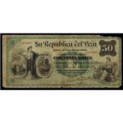 Peru. La Republica Del Peru Issued Banknote