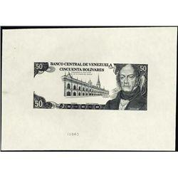 Venezuela. Banco Cen. De Venezuela Progressive Pr