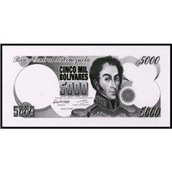 Banco Cent. De Venezuela Banknote Production Item