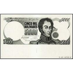Venezuela. Banco Cent. De Venezuela TC Proof