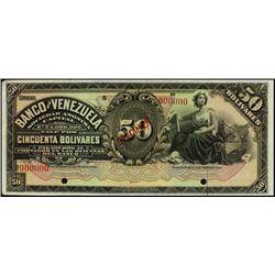 Venezuela. Banco de Venezuela & Mercantil Y Agric